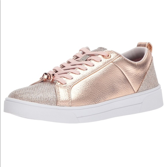 rose gold ted baker trainers
